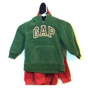 Two Gap fleece hoodies sweaters 4T boys or girls